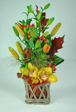 composition florale d 39 automne livraison fleurs reims marne composition florale. Black Bedroom Furniture Sets. Home Design Ideas