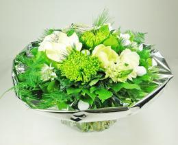 Bouquet rond blanc festif